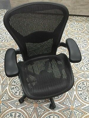 Herman Miller Aeron Mesh Office Desk Chair Medium Size B B10 Adjustable Lumbar