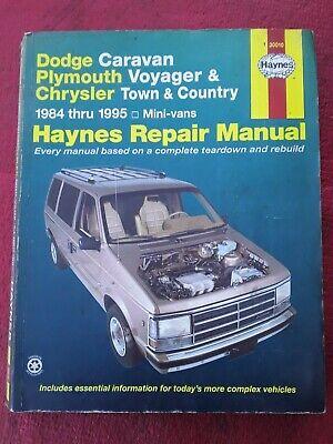 Haynes 30010 Repair Manual Dodge Caravan Plymouth Voyager Chrysler Town/Country