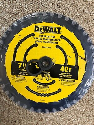 Dewalt 7-1/4-In 40-Tooth Tungsten Carbide-Tipped Steel Circular Saw Blade  4in 40 Tooth Circular Saw