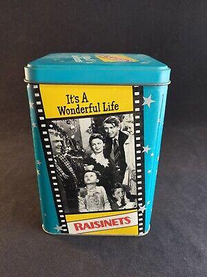 "Vintage 1992 Nestle Raisinets 65 Year Anniversary ""It's A Wonderful Life"" Tin"