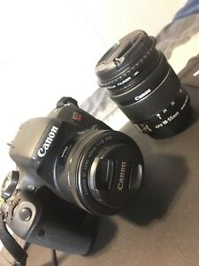 Canon Rebel T7I + two lens