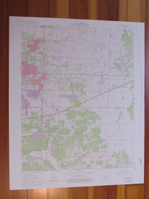 Joplin East Missouri 1979 Original Vintage USGS Topo Map