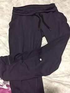 Size 8 lululemon base runner pants