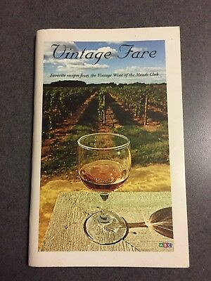 Vintage Fare: Favorite Recipes From Vintage Wine Of Month Club Cookbook covid 19 (Monthly Wine Club coronavirus)