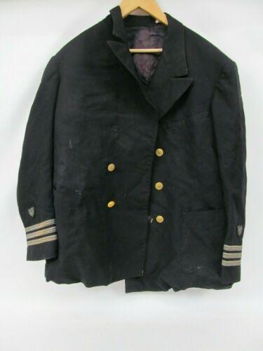Vintage Dress Uniform Jacket – Black Military USN Navy (Restoration)