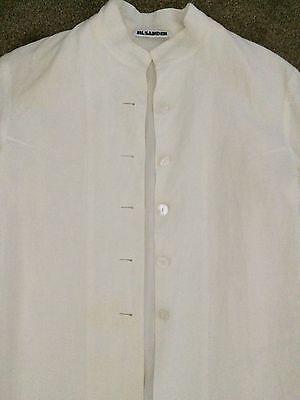 Vintage JIL SANDER Germany Linen Cream Narue Jacket, Size 36