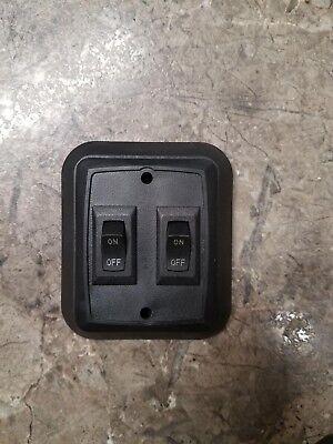 RV Trailer Black 12 Volt Single ON OFF Switch 20A 14DC 2 Prong SIGMA 1B