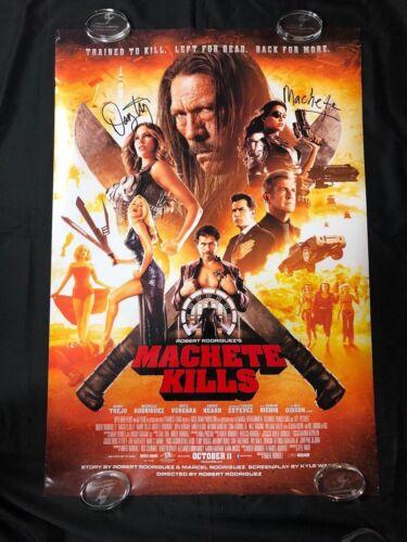 Machete Kills Danny Trejo Signed Autogragh One Sheet Movie Poster JSA LOA