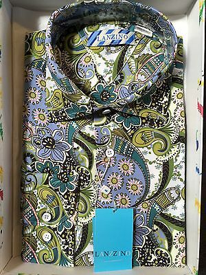 NWT Imported Mens Long Sleeve New  Multi Color Floral Paisley Shirt  Size XL