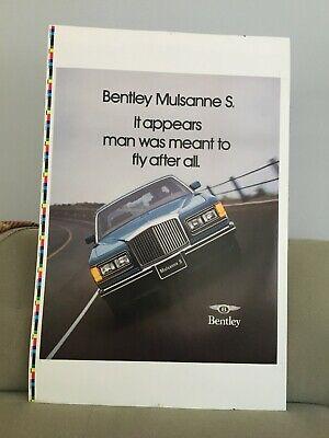 Vintage 1980 Bentley Mulsanne S Poster Printers Color Proof Sheet. Unique. Rare.