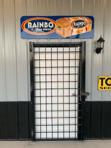 Vintage Original Clean Rainbo Bread Metal Advertising Sign GAS OIL SODA COLA