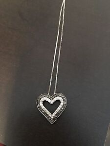 Black silver necklace. Worn once