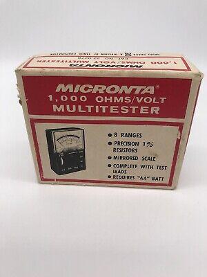 Vintage Radio Shack Tandy Micronta 1000 Ohmsvolt Multitester 22-027b Wbox