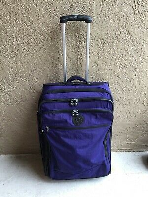 KIPLING Luggage Rolling Suitcase Purple Expandable