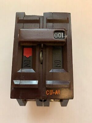 Wadsworth 100 Amp Double Pole 2 Pole 100a Main Circuit Breaker Small Chip Back
