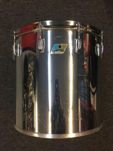 Ludwig Vintage 1970s 16 x 15 10lug 6ply Maple Concert Tom Drum Metal Chrome Wrap