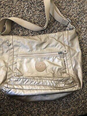 KIPLING BETHEL Metallic Gold Handbag Large Crossbody Travel Bag