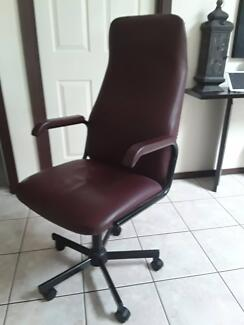 office chair   ,100% leather.
