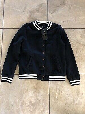 Women's FV Relay Black Baseball Varsity Jacket- size small