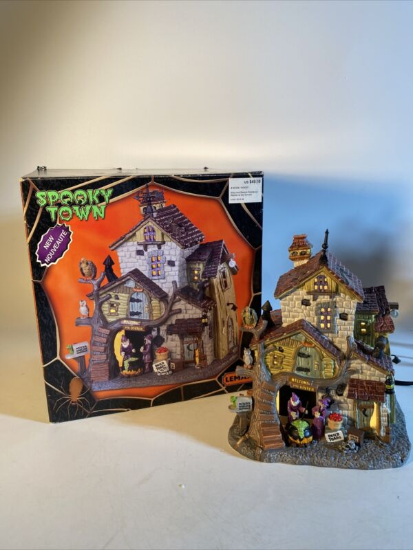 Lemax Spooky Town🎃 ~Witch & Warlock~ Residence lighted building Read Please