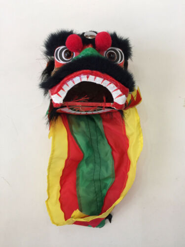 "4.5"" MINI CHINESE NEW YEAR LION DRAGON HEAD DANCE DECORATION PERFORMANCE"