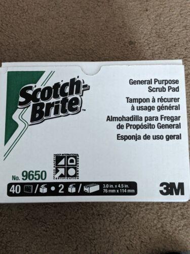 Scotch-Brite General Purpose Scrubbing Pad 9650, 3 in x 4.5 in! NEW Box of 40!