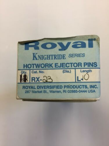 Royal RX-23-L10 RX KNIGHTRIDE SERIES H-13 Hotwork Ejector Pins  (BOX OF 11)