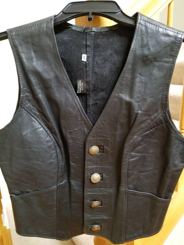 BOYS Honda Leather Vest - Size 12