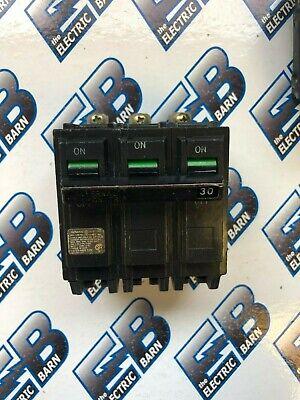Ge Thqb32030 3 Pole 30 Amp 240 Volt Bolt On Circuit Breaker- Warranty