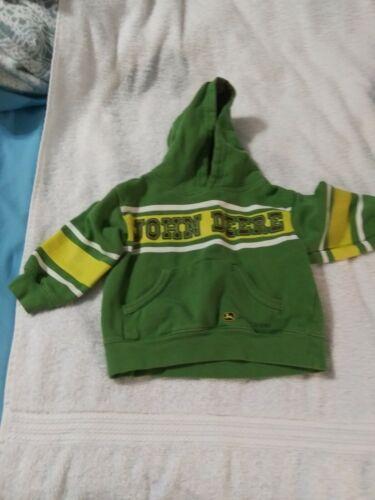 Boys 3T John Deere Green Pullover Hooded Sweatshirt