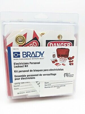 Brady Electricians Personal Lockout Kit 1881775 - New
