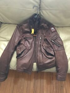 PJS Brown leather jacket Authentic sporting life