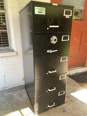 Mosler Fireproof Safe Security Container 5-drawer File Cabinet Fire Combination