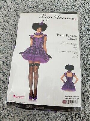 Leg Avenue Women's 3 Piece Pretty Parisian Clown Costume, Purple, covid 19 (Leg Avenue 3 Piece coronavirus)