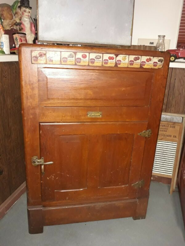 Antique Radium Ice Box- Ranney refrigerator company