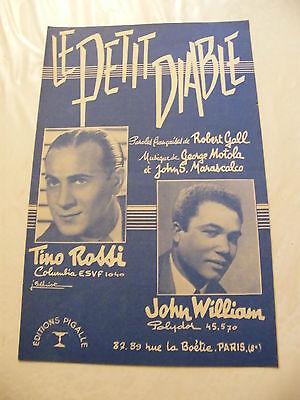 Partition le Petit Devil Tino Rossi John William 1956 John Williams Accordion
