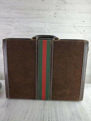 Vintage Gucci Leather Suitcase