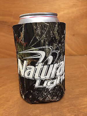 Natural Light Natty Real Tree Camo Beer Can Bottle Koozie Cooler NEW & Free Ship
