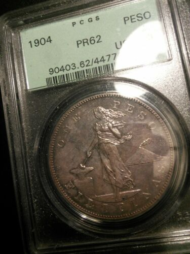 U.S. Philippines 1904 Peso Proof PCGS PR62