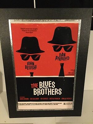 A4 Mounted print of Blues Brothers Movie Poster
