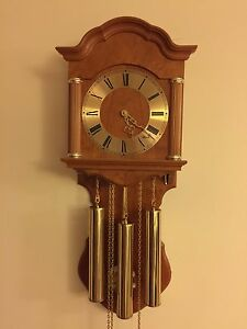 Westminster wall chime clock