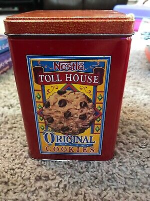 Vintage Nestle Toll House Cookie Tin Morsels - Great Display!