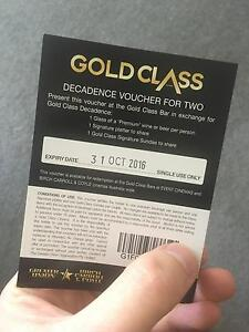 Gold Class Decadence Voucher For Two Sydney City Inner Sydney Preview