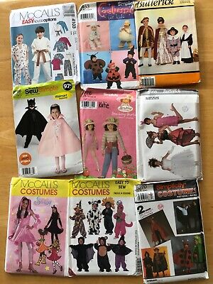 LOT OF 9 CHILDREN'S Costume SEWING PATTERNS Halloween Simplicity McCall's