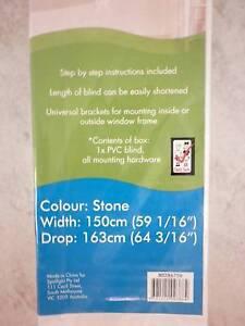 NEW - 25mm Slat Venetian Blind, Stone colour. 150cm(W), 163cm(D) Albany Creek Brisbane North East Preview
