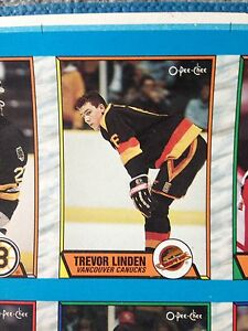 1989/90 O-Pee-Chee OPC Hockey Uncut Sheets Complete Set Stratford Kitchener Area image 4