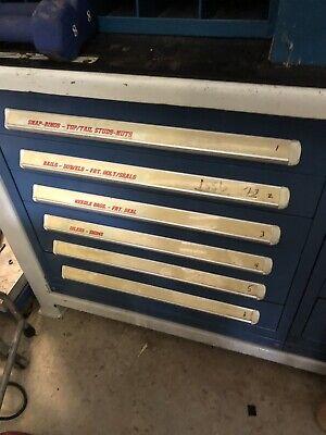 Stanley Vidmar 6 Drawer Industrial Cabinet Lista Style Tool Shop Garage Storage