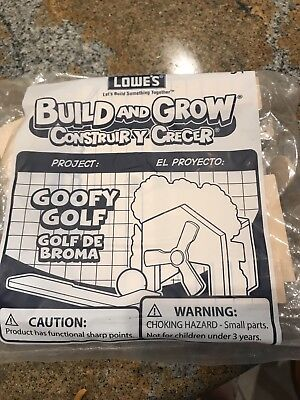 NIP LOWE'S BUILD and GROW Goofy Golf Kit Perfect For Cub Scouts Wood Project](Wood Building Kits For Kids)