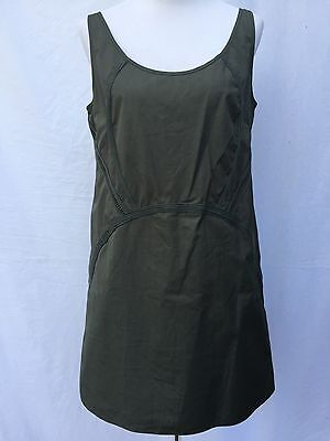 Cute Army Clothes (NWT $350 O'2nd Neiman Marcus size 8 Shift Dress Army Green Cotton)