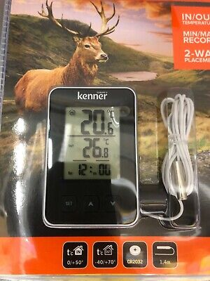 10x Kenner outdoor indoor thermometer up to -40/ +70 degrees 2 way placement 1pc